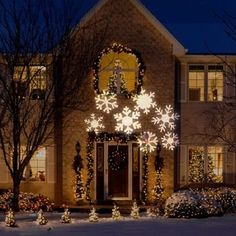 white snowflakes christmas light projector bargain for light flurries. Black Bedroom Furniture Sets. Home Design Ideas