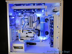 """Gaming Rig from Snef Design codename : """" Icy Blue Angel """" Front view - Protoss computer"""