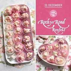 Kekserl-Adventskalender: 24 Keksrezepte zum Downloaden - sugar&rose Pasta Salad, Rose, Ethnic Recipes, Handy Tips, Advent Calenders, Crab Pasta Salad, Pink, Roses