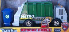 Amazon.com: Tonka Lights & Sound - Rescue Force - Metro Sanitation Department Truck - Garbage Truck: Toys & Games