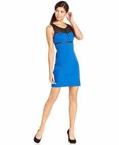 kensie Faux-Leather Dress