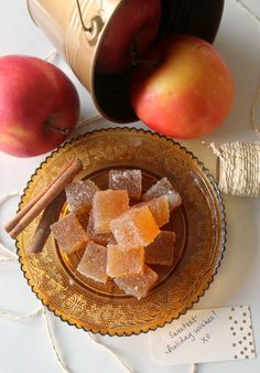 Spiced Cider Jelly Candies - your homebased mom - gorgeous treat for a dessert platter, holiday buffet, or wrapped up as a gift!