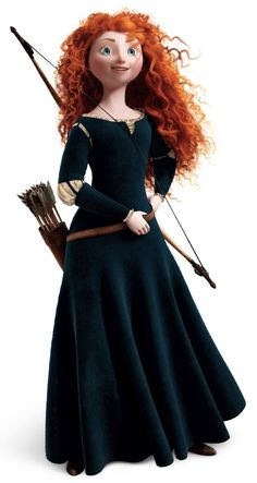 Princess Merida is the protagonist of Disney/Pixar's 2012 animated feature film, Brave. She is a Scottish princess and the daughter of Queen Eleanor and King Fergus. Merida is the eleventh official Disney Princess and the first to originate from Pixar. Disney Diy, Walt Disney, Disney Pixar, Disney Travel, Disney Family, Disney Cosplay, Merida Cosplay, Princesa Merida Disney, Disney Princess Merida