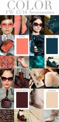 FASHION VIGNETTE: TRENDS // TREND COUNCIL - WOMEN'S + ACCESSORIES . COLORS 2015-16