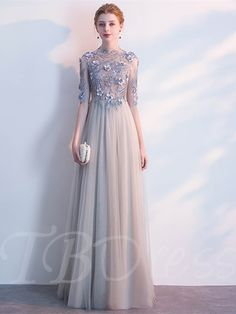 Modern / Fashion Candy Pink Pierced Evening Dresses 2018 A-Line / Princess Scoop Neck Sleeves Appliques Lace Sequins Beading Cathedral Train Ruffle Backless Formal Dresses Glamorous Evening Dresses, Grey Evening Dresses, Burgundy Evening Dress, Dresses Elegant, Evening Dresses Online, Beautiful Dresses, Formal Dresses, Gowns Online, Formal Prom