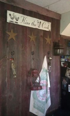 Barn door kitchen wall