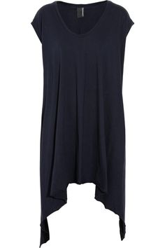 Asymmetric cotton-jersey tunic by Complex Geometries - would look cute with capri leggings.