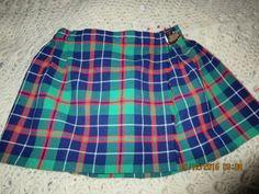 St. Michael's Girl's Size 5 Vintage Tartan Kilt Skirt by theShoppingMollies on Etsy