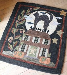 I'm working on this rug now.  It's from a Blackbird Design quilt pattern.