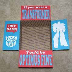Optimus Fine Care Package Flaps by LoveFromHomePackages on Etsy