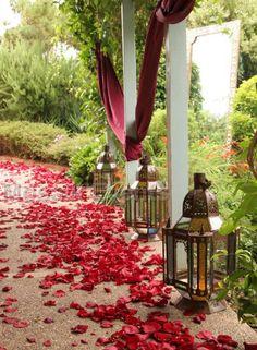 Wedding Decor - Moroccan Mosaik Events Petals and lanterns by Z Shop, via Flickr