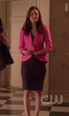 Pink Blazer & Purple Dress