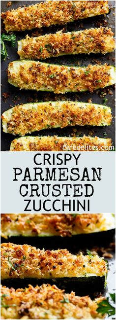 crispy parmesan crusted zucchini are so easy to make! one of the best ways to enjoy zucchini! crispy and crunchy, the perfect side dish or snack! Keto Side Dishes, Vegetable Dishes, Vegetable Recipes, Zucchini Side Dishes, Zuchinni Side Dish Recipes, Easy Vegtable Side Dishes, Lasagna Side Dishes, Easy Side Dishes, Veggie Recipes Sides