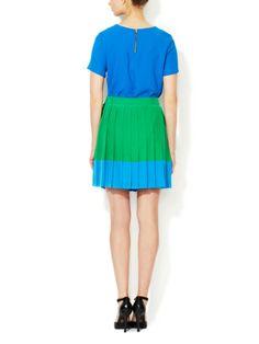 Raecel Silk Pleated Skirt by Escada at Gilt