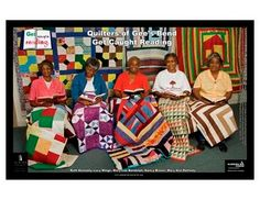The town's women developed a distinctive, bold, and sophisticated quilting style based on traditional American (and African American) quilts. Gees Bend Quilts, African Quilts, Textiles, Antique Quilts, African American History, Quilt Making, So Little Time, Textile Art, Quilt Patterns