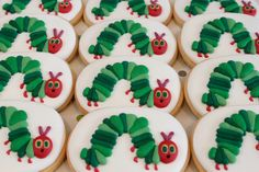 Hungry caterpillar cookies by Miss Biscuit