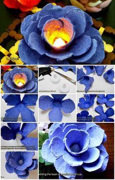 How To Make Egg Carton Flower Light | UsefulDIY.com