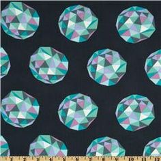 The Birds & The Bees Meteor Shower Aquarium - 1yd - 8/12 - washed - Whipstitch