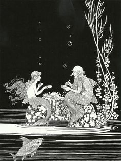 Ida Rentoul Outhwaite ~ The Merman's Glass House ~ from The Little Fairy Sister ~ 1923