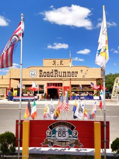 Travel my way, the highway that's the best. get your kicks on route Route 66 Road Trip, Travel Route, Travel Log, Main Street America, Historic Route 66, Road Runner, Adventure Quotes, Gas Station, New Mexico
