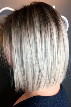 Nouvelle Tendance Coiffures Pour Femme  2017 / 2018   19 Styles chic et tendance pour les coupes de cheveux Bob modernes pour les cheveux fins Les coiffures Bob sont