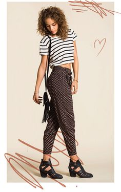 Urban Outfitters: We love this look: Slouchy Harem Pants & Cropped, Fitted Tees | Milled