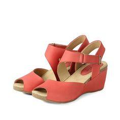 【La Habana Asymmetry Wedge Sandals】都會經典 露趾楔型鞋 _Grenadine - Bussola APAC