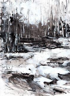 ink,akryl-Dariusz Zapała