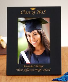 A Personal Creations Exclusive! A handsome addition to the new graduate's desk or dorm room, our sleek black photo frame lets their graduation photo shine! High School Graduation Gifts, Graduation Photos, Graduation Ideas, Black Photo Frames, Picture Frames, Jefferson High School, Personalized Graduation Gifts, Teacher Appreciation Gifts, Laser Engraving