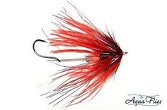 Red Fish Taco Steelhead Stinger Fly Aqua Flies 3 Flies. A smaller Intruder just right for  steelhead fly fishing during clear water conditions!