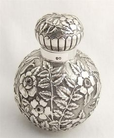 Gorgeous Antique Sterling Silver Perfume Scent Bottle 1888 | eBay