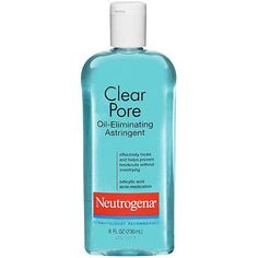 Clear skin starts with clear pores. Neutrogena's Clear Pore Oil-Controlling Astringent is specifically formulated to instantly remove surface oil to control shine and to treat and help prevent breakouts. Tea Tree Soap, Salicylic Acid Acne, Clear Pores, Acne Breakout, Toner For Face, How To Treat Acne, Acne Prone Skin, Oily Skin