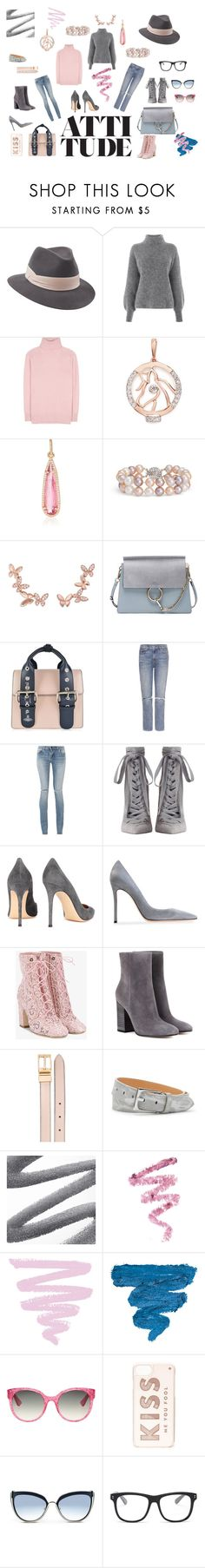 """""""Pearl Attitude..."""" by athinakarayiannide ❤ liked on Polyvore featuring Penmayne of London, Warehouse, Tomas Maier, LC COLLECTION, Irene Neuwirth, Blue Nile, Anyallerie, Chloé, Vivienne Westwood and GRLFRND"""
