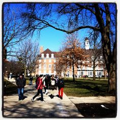 Beautiful day on the Quad of the University of Illinois