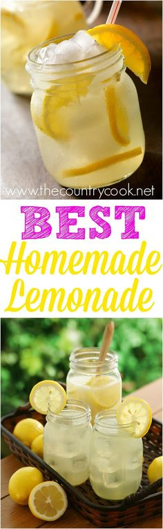 Ingredient Homemade Lemonade Secret Ingredient Homemade Lemonade recipe from The Country Cook. Really, the best!Secret Ingredient Homemade Lemonade recipe from The Country Cook. Really, the best! Summer Drinks, Fun Drinks, Healthy Drinks, Beverages, Refreshing Drinks, Party Drinks, Cold Drinks, Alcoholic Drinks, Country Cooking