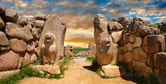 Photos of the Lion Gates at the Hittite capital Hattusa, Turkey. Download as royalty free photos of buy photo wall art prints on line. Photographer Paul Williams.