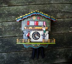 Vintage 1970 Cuckoo Clock West Germany No 7312 Oktoberfest Themed | eBay
