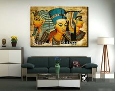 large wall art canvas Pharaoh Of Egyptian Home Decoration Paintings Modern Abstract Wall Painting wall picture for living room