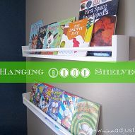 How To Make Hanging Book Shelves
