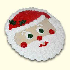 Santa cookie cake Pizza Cake, Cookie Pizza, Big Cookie, Dessert Pizza, Santa Cookies, Cute Cookies, Christmas Cookies, Christmas Crafts, Cupcake Cakes