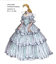 The search for Scarlett - Anita Louise Paper doll - Maria Varga - Picasa Web Albums