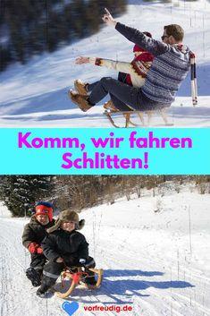 Wo ist der Winter am Schönsten? Wo macht Rodeln am meisten Spaß? #winter #familie #ausflug Sled, Cuddling, Animales, Nice Asses
