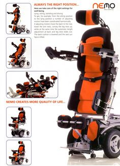 NEMO Vertikal>>> See it. Believe it. Do it. Watch thousands of spinal cord injury videos at SPINALpedia.com Assistive Technology, Medical Technology, Adaptive Equipment, Handicap Equipment, Wheelchair Accessories, Powered Wheelchair, Spinal Cord Injury, Aging In Place, High Tech Gadgets