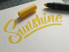 Lettering by Colin TierneyMedium used: Crayola Gel Washable Markers