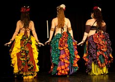 Love these ladies, and their bright bustles!  Awalim Dance Company. Originally pinned by Allison Leigh onto Dance.