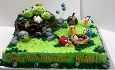 angry birds cakes | ANGRY BIRDS BIRTHDAY CAKES : Do you wanna your Birthday Cake like that ...