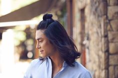 Humidity got you thinking of chopping off all that hair? Before you book your barber, check out the Asian man bun style called the half-bun.   All Things Hair - From hair experts at Unilever