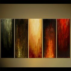 the five elements large modern painting