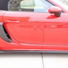 Carbon Fiber Rear Side Door Vents Trim Cover for 718 Porsche Parts, Porsche 718 Boxster, Side Door, Carbon Fiber, French, Cover, French People, French Language, France