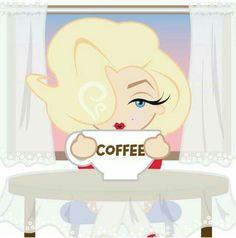 Mini Marilyn with coffee Estilo Marilyn Monroe, Marilyn Monroe And Audrey Hepburn, Marilyn Monroe Wallpaper, Marilyn Monroe Drawing, I Love Coffee, Coffee Art, Coffee Break, Candle In The Wind, Norma Jeane